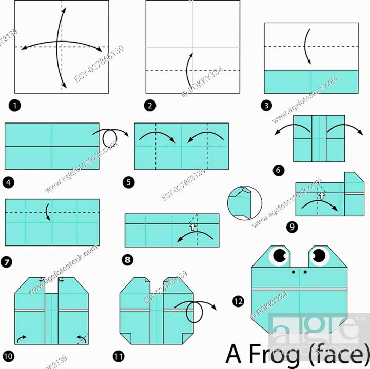 Origami: Origami Jumping Frog Tutorial Origami Jumping Frog ...   700x701
