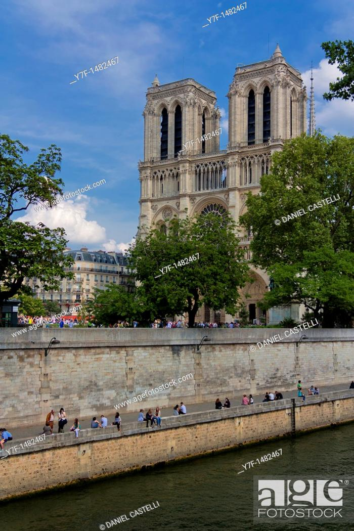 Stock Photo: Notre Dame cathedral, Paris, France.
