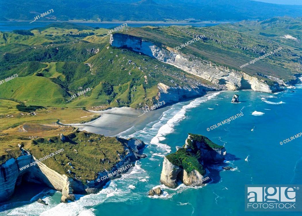 Stock Photo: Nguroa Bay south of Cape Farewell West coast South Island New Zealand.