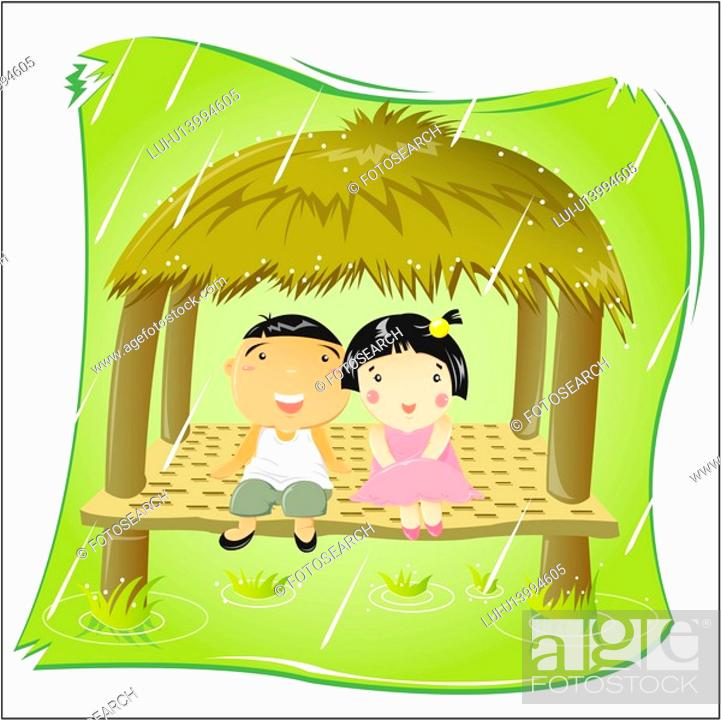 Stock Photo: outdoors, summer, scenic, scenery, landscape, grass, seasons.
