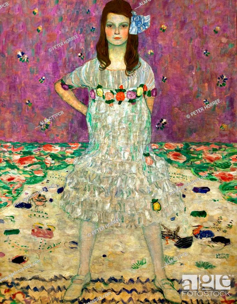 Stock Photo: Mada Primavesi 1912 Gustav Klimt 1862 - 1918 Austrian symbolist painter of the Vienna Secession movement Austria.