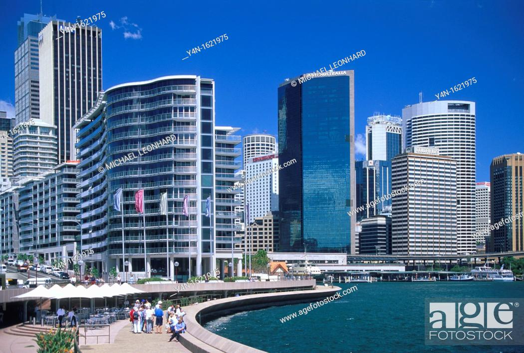 Stock Photo: Sydney Cove and the Skyscrapers of the City.