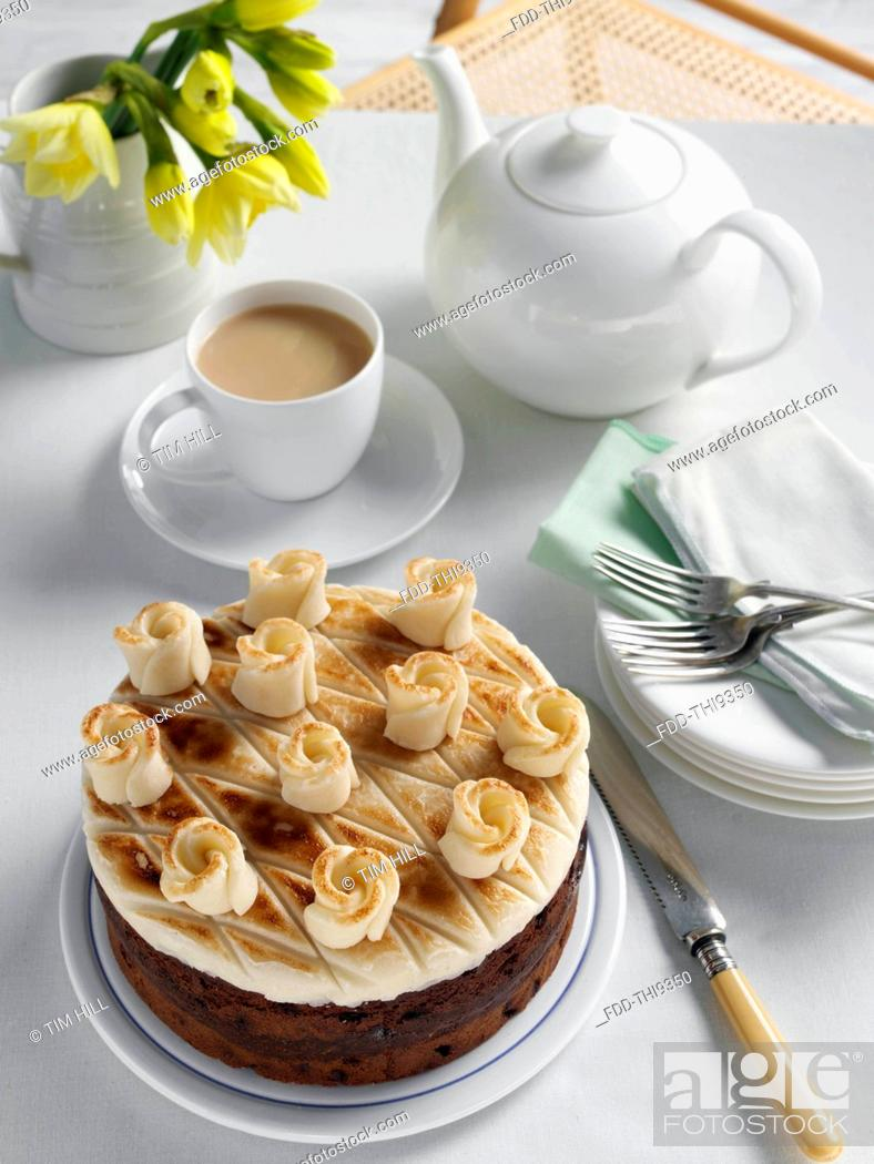 Stock Photo: Simnel cake.