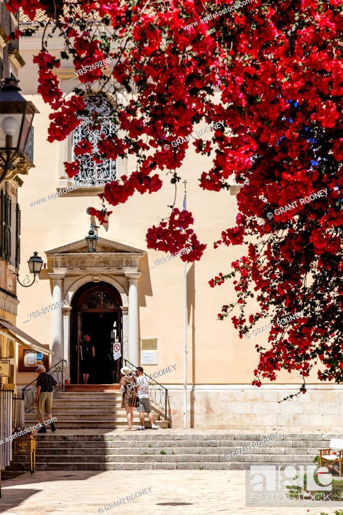 Stock Photo: Saint Spyridon Church, Corfu Old Town, Corfu, Greece.
