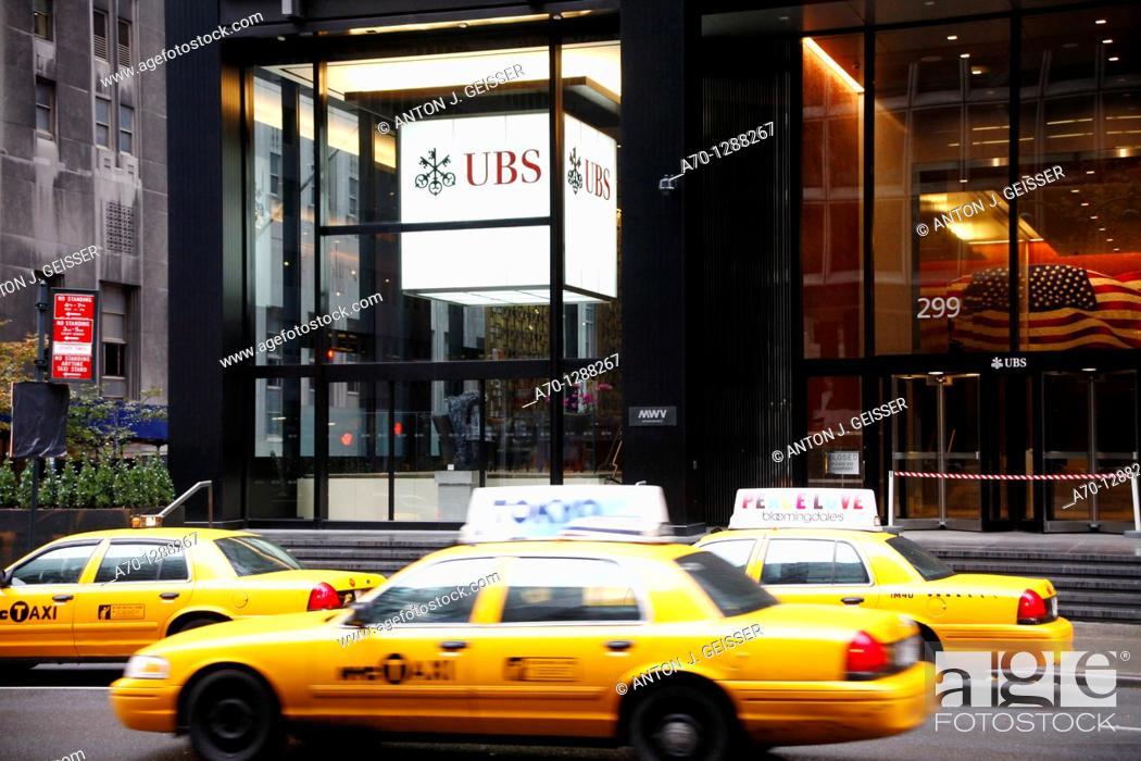 Stock Photo: New York City, UBS Bank park avenue.