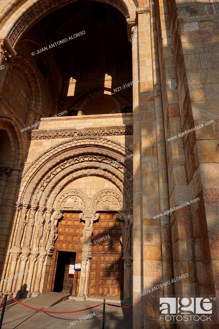 Stock Photo: San Vicente Basilica. Main gate. Ávila, Community of Castilla-León, Spain, Europe.