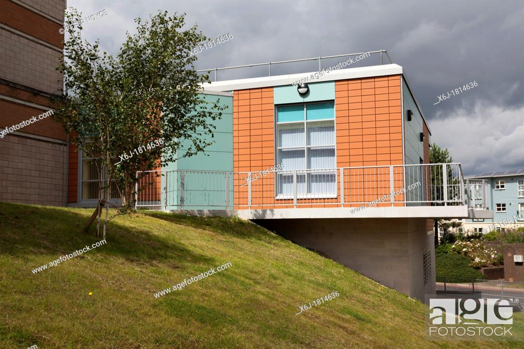 Stock Photo: exterior of the Haematology department of Southampton General Hospital.