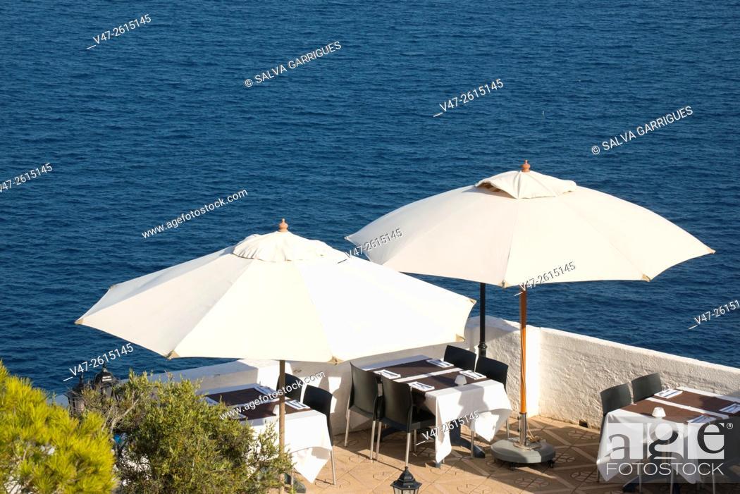 Imagen: Terrace of a restaurant in the Cabo de La Nao, Javea, Xabia, Alicante, Spain, Europe.
