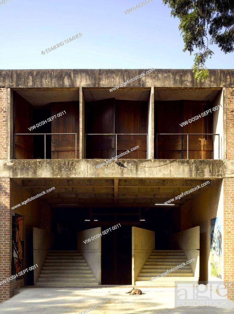 Cept University Architecture School Exterior View Of Entrance Stock