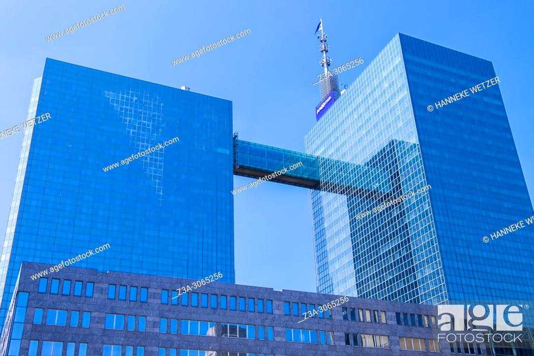 Stock Photo: Proximus building, Brussels, Belgium, Europe.