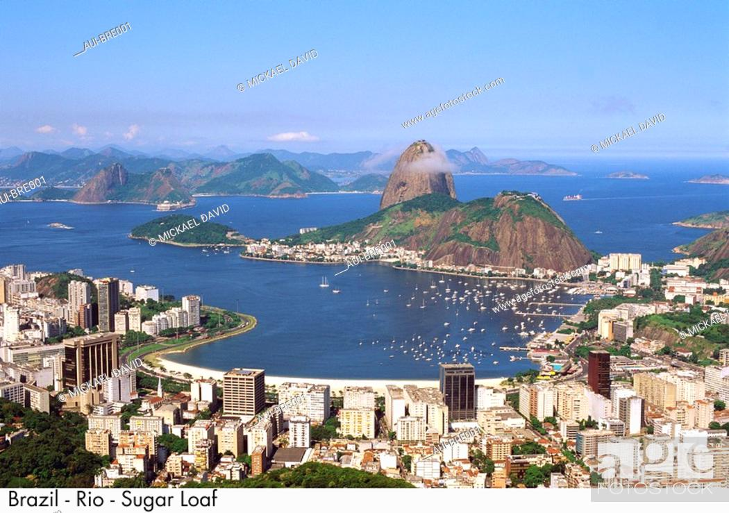 Stock Photo: Brazil - Rio - Sugar Loaf.