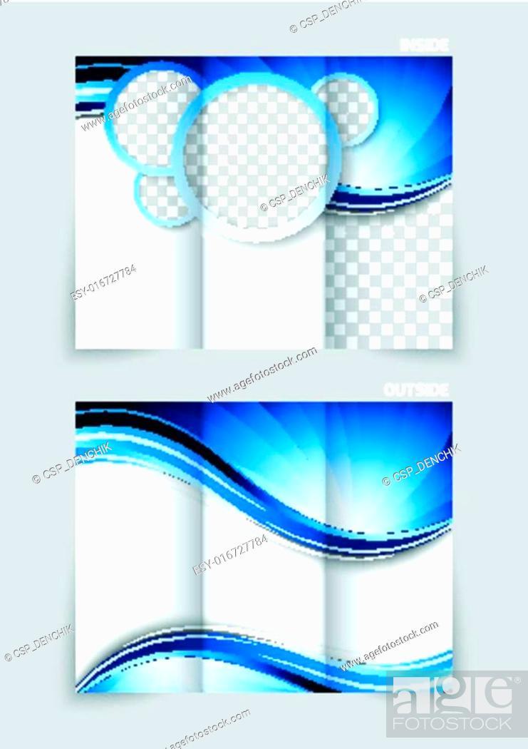 Stock Vector: Tri-fold brochure design.