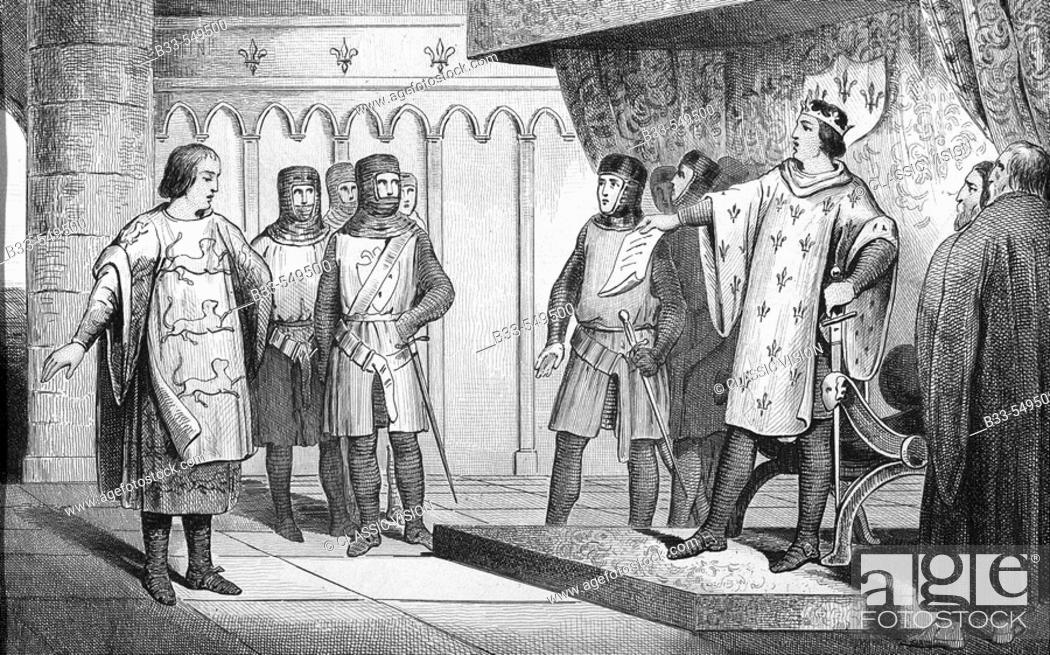 Louis viii of france the lion 1187 1226 reigned 1223 1226 stock photo louis viii of france the lion 1187 1226 reigned 1223 1226 the king receives an envoy from his enemy henry iii of england fandeluxe Image collections
