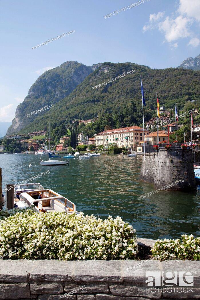 Imagen: Italy, Lombardy, Lake Como, Menaggio, Town & Harbour.
