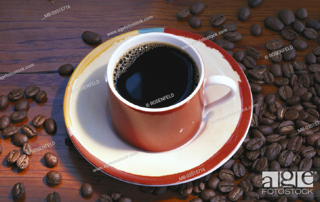 Stock Photo: Coffee, Cup, Coffee beans.