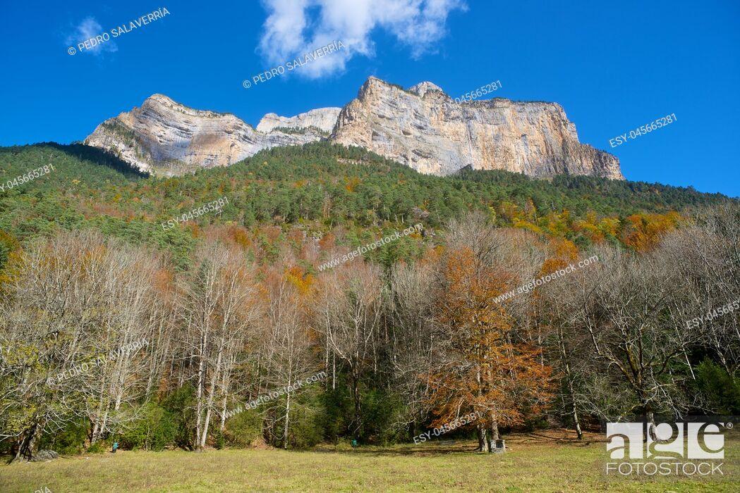 Imagen: Libro Abierto Wall in the Pyrenees, Ordesa Valley National Park, Aragon, Huesca, Spain.
