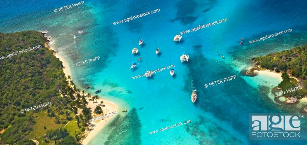 Stock Photo: The 'Tobago Cays' in the Grenadines  Caribbean.