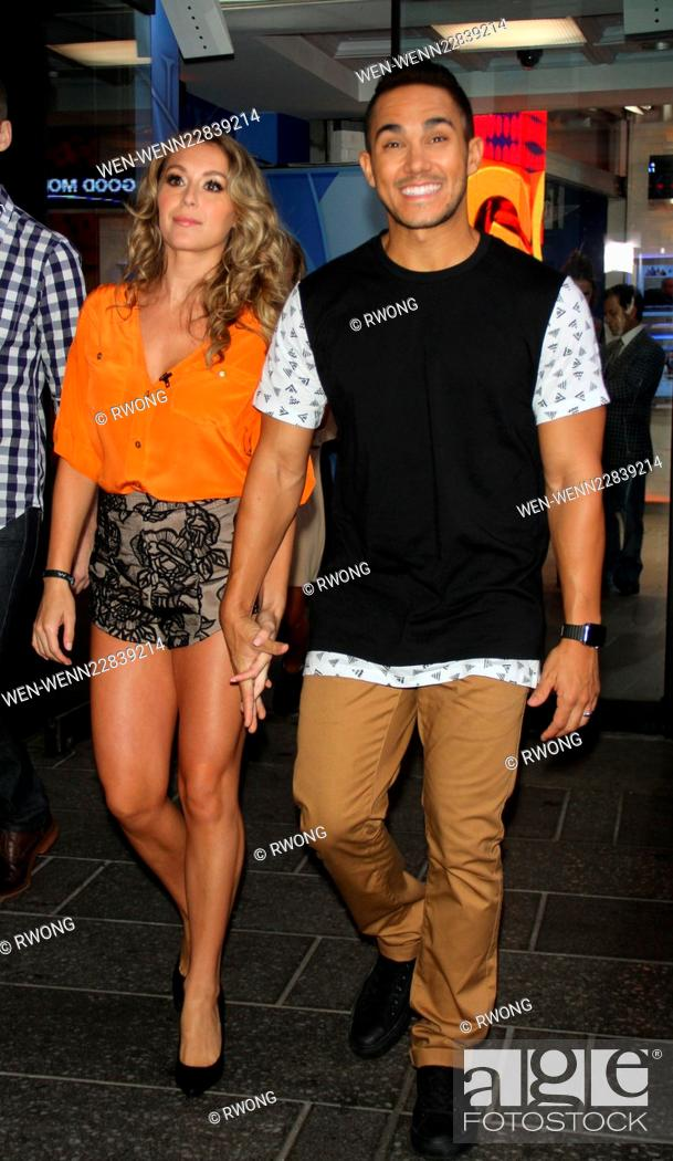 Celebrities and professional dancers visit Good Morning America to