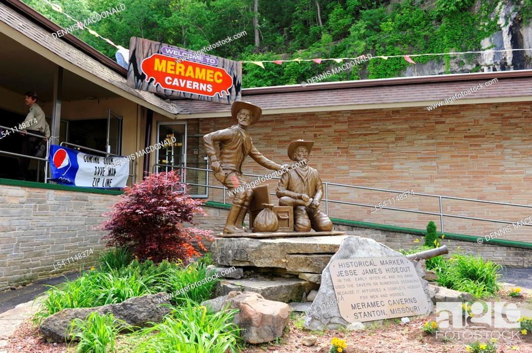 Stock Photo: Meramec Caverns along Route 66 Stanton Missouri.