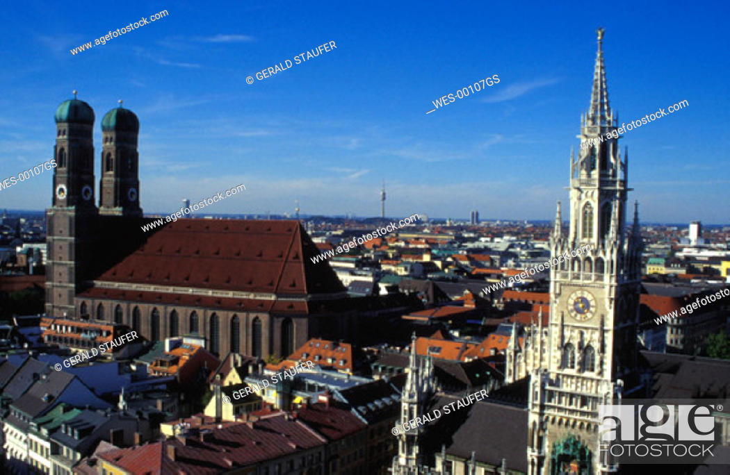 Stock Photo: view over Munich.