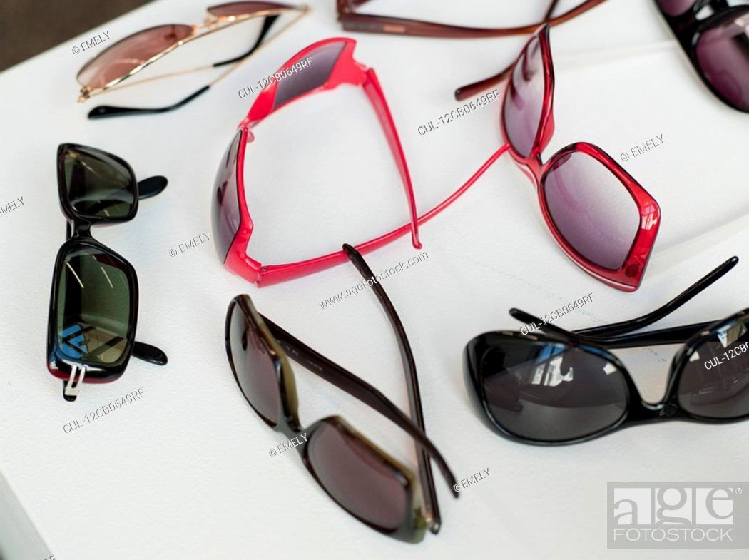 Stock Photo: assortment of sunglasses.