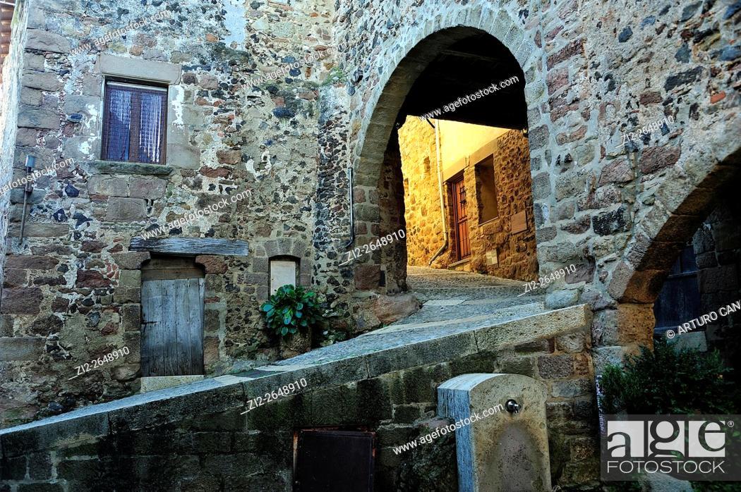 Stock Photo: Santa Pau. La Garrotxa, Girona province, Spain.