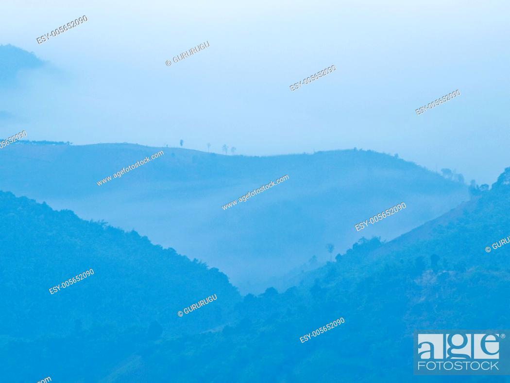 Stock Photo: Mountain view Chaeng hill, Chiang rai Thailand.