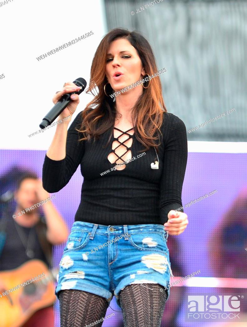 Stock Photo: 31st annual Kiss 99.9 Chilli Cookoff at CB Smith Park Featuring: Karen Fairchil of Little Big Town Where: Pembroke Pines, Florida.