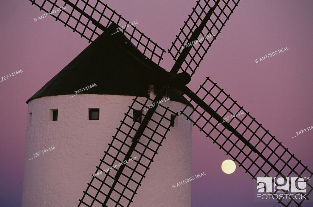 Stock Photo: Windmill. Campo de Criptana. Ciudad Real province. Spain.