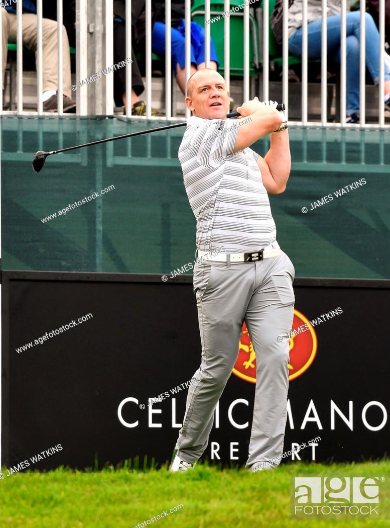 Stock Photo: The Celebrity Cup 2016 at Celtic Manor, Wales Featuring: Mike Tindall Where: Wales, United Kingdom When: 09 Jul 2016 Credit: James Watkins/WENN.com.