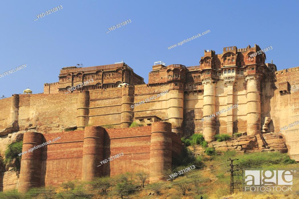 Stock Photo: Mehrangarh Fort, Jodhpur, Rajastan, India.