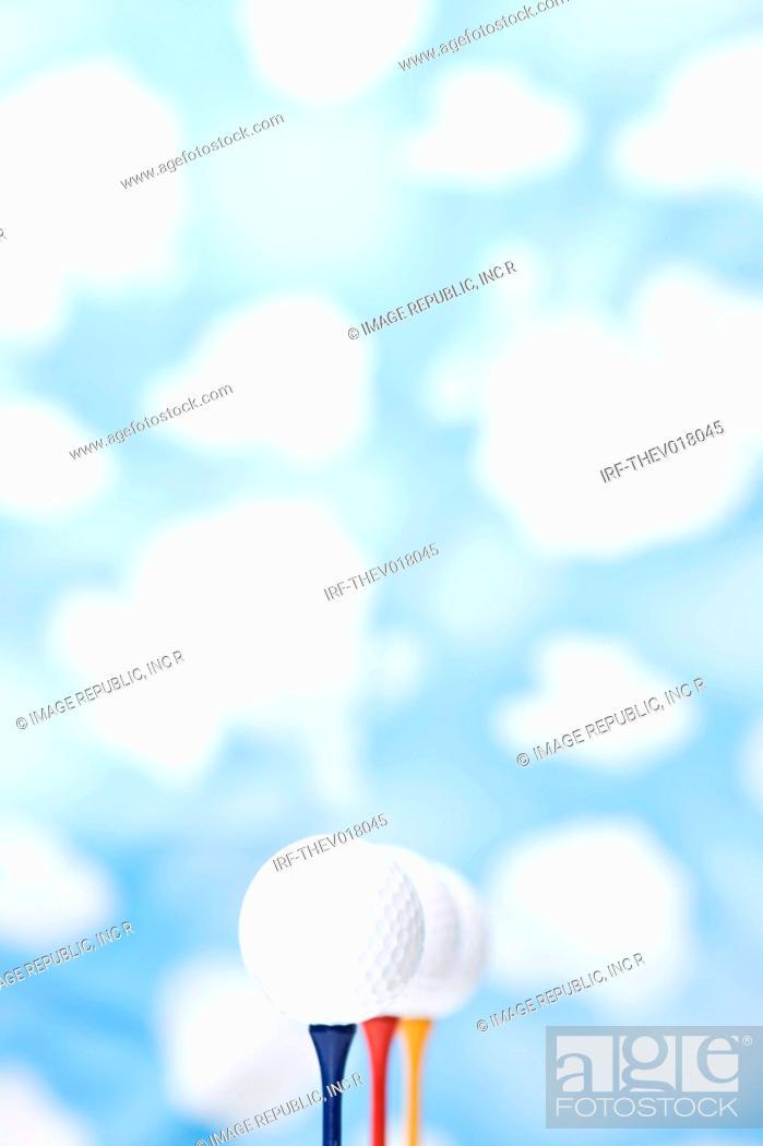 Stock Photo: wallpaper and golf balls.