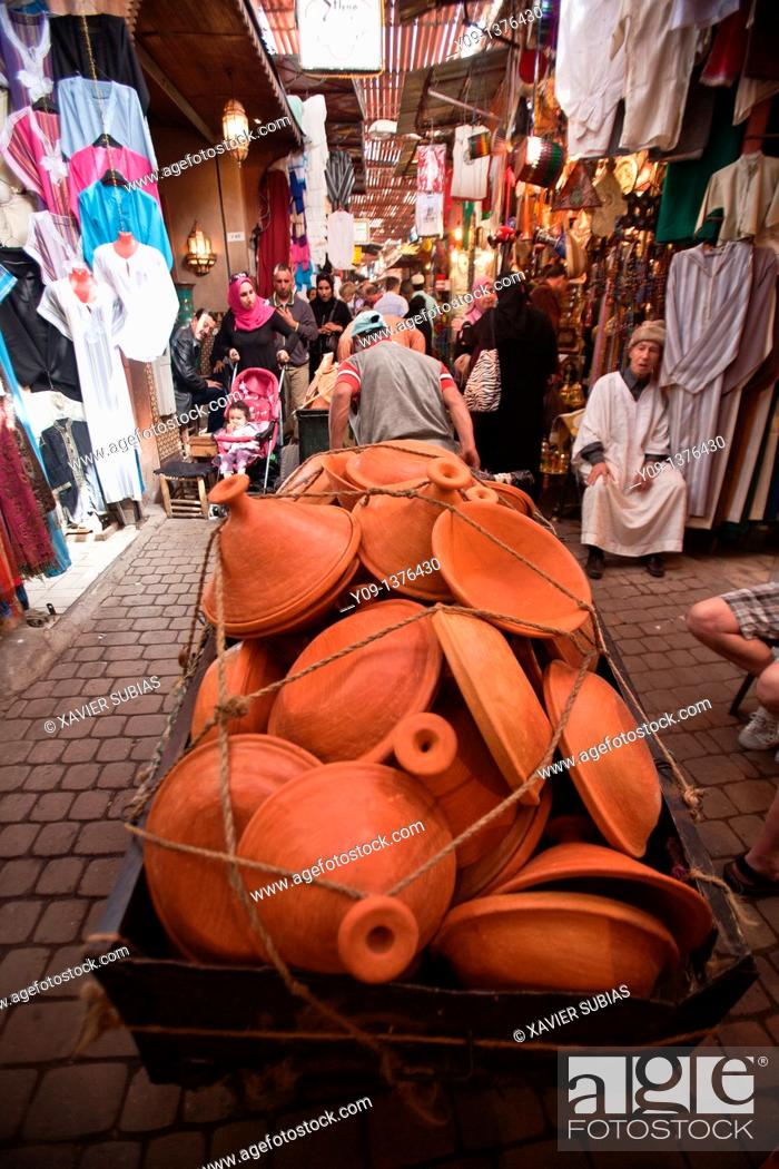 Stock Photo: Tajine, Medina Souk, Marrakech, Morocco.