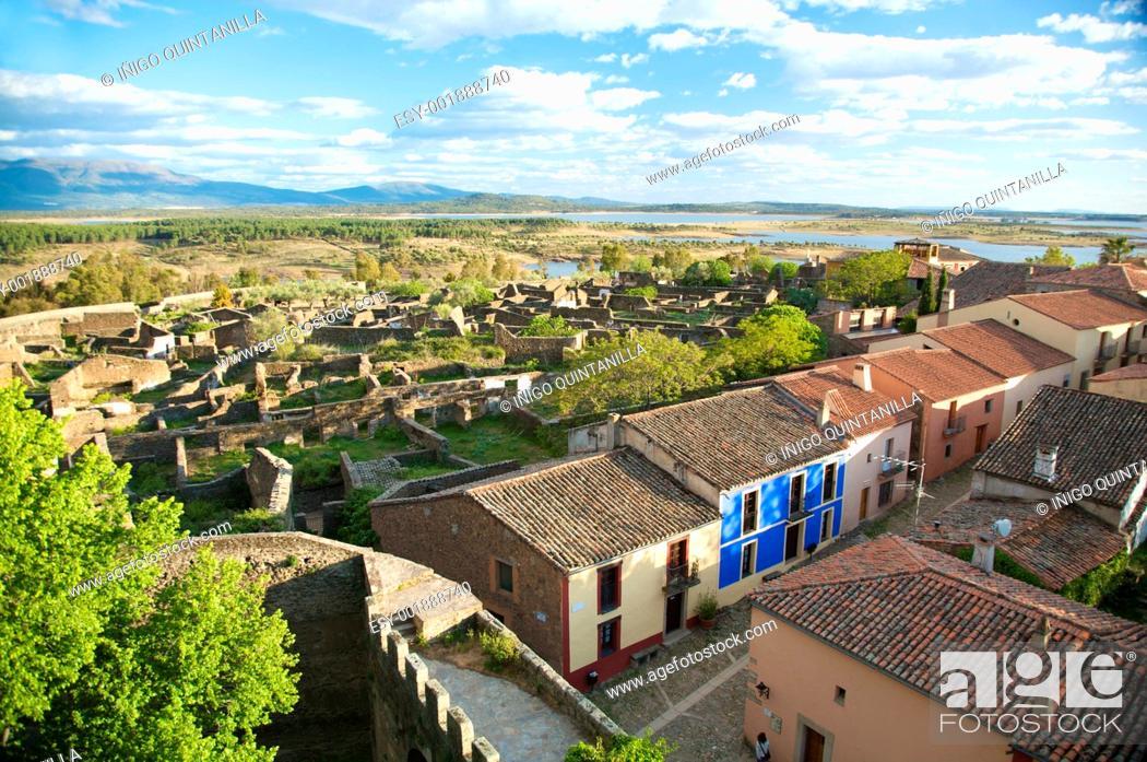 Stock Photo: granadilla village from the castle.