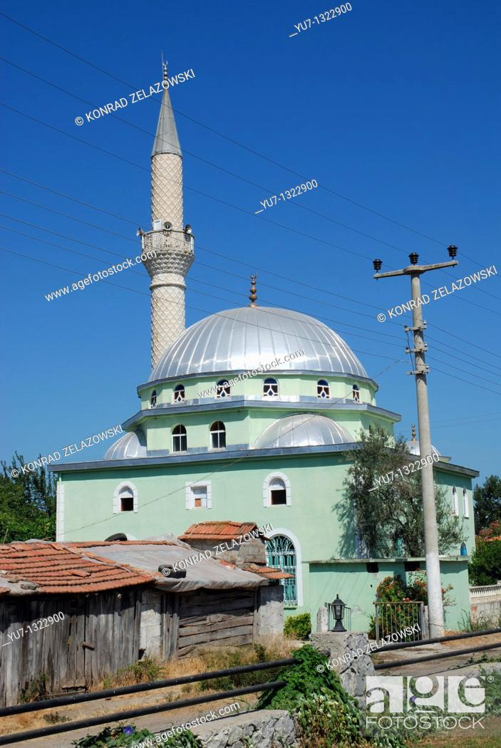 Stock Photo: Mosque near Dalyan village in Turkey.