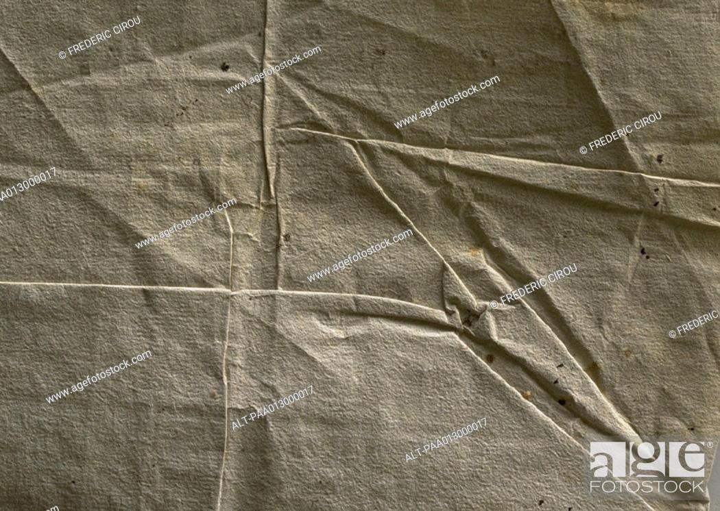 Stock Photo: Wrinkled paper, close-up, full frame.