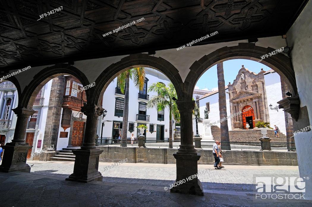 Stock Photo: Plaza de España. Santa Cruz de La Palma. La Palma. Canary Islands. Spain.