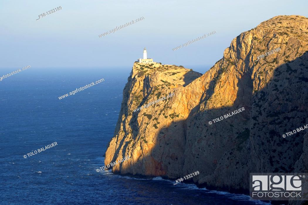Stock Photo: Faro de Formentor 1863 Cap de Formentor Pollença Mallorca Balearic Islands Spain.