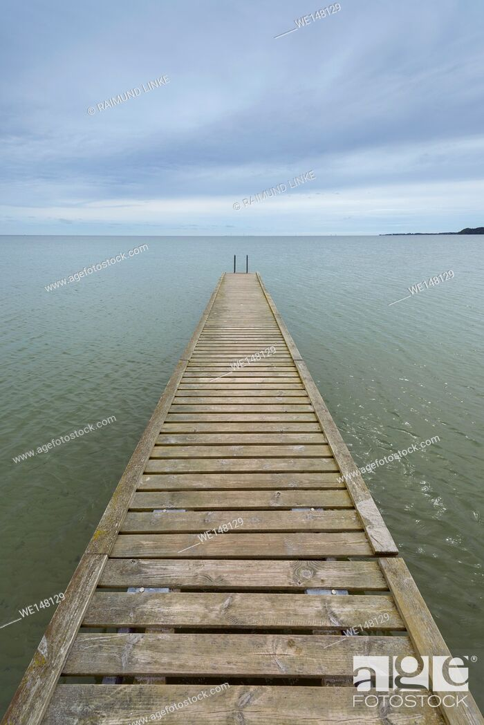 Photo de stock: Wooden Jetty, Kerteminde, Storebaelt, Syddanmark, Funen, Denmark.