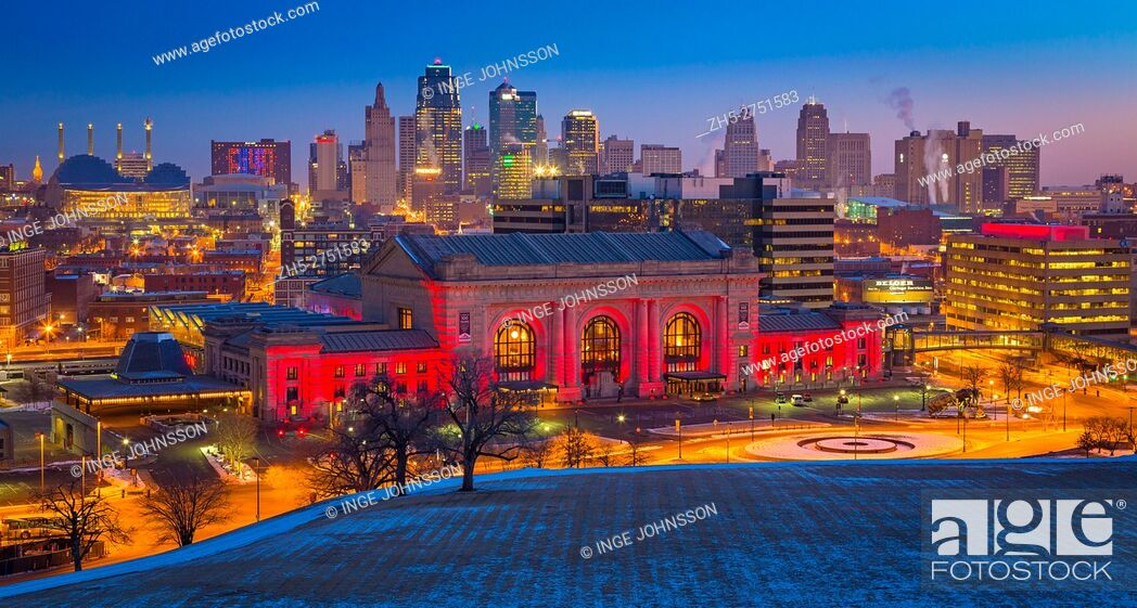 Stock Photo: Kansas City (often referred to as K. C. ) is the most populous city in the U. S. state of Missouri. In 2010, it had a population of 459,787.