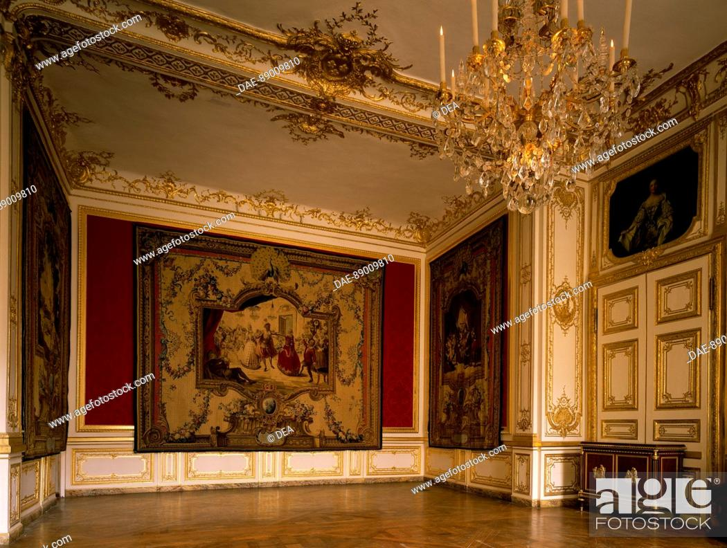 Stock Photo: Louis XV's chambers, small apartments, Palace of Versailles (UNESCO World Heritage List, 1979). France, 18th century.