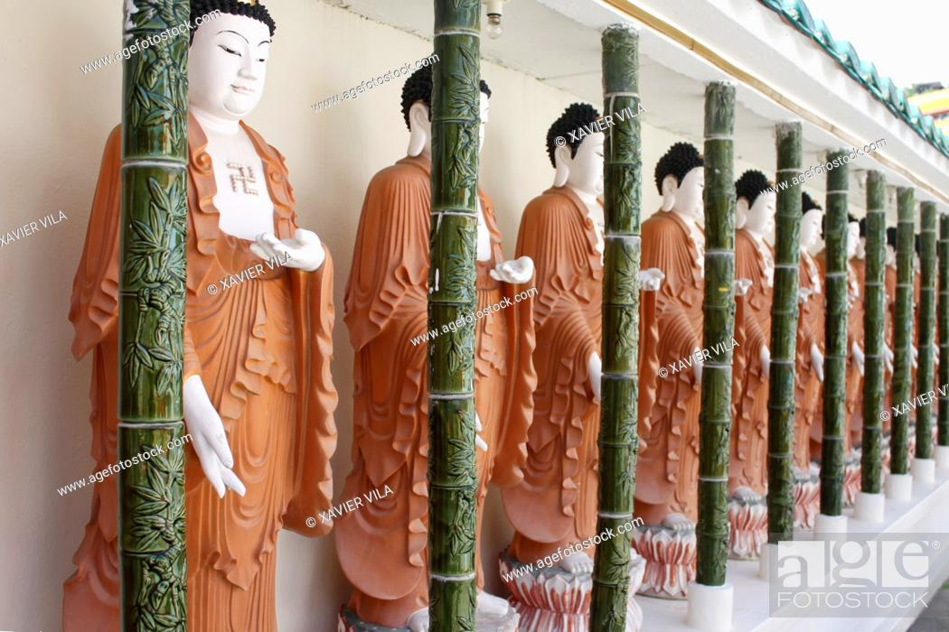 Stock Photo: Buddha statues in the Kek Lok Si temple, Penang, Malaysia.