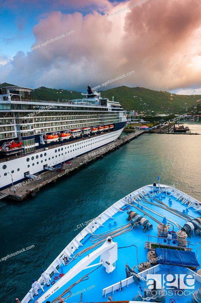 Stock Photo: Tortola; Road Town; British Virgin Islands; Caribbean.