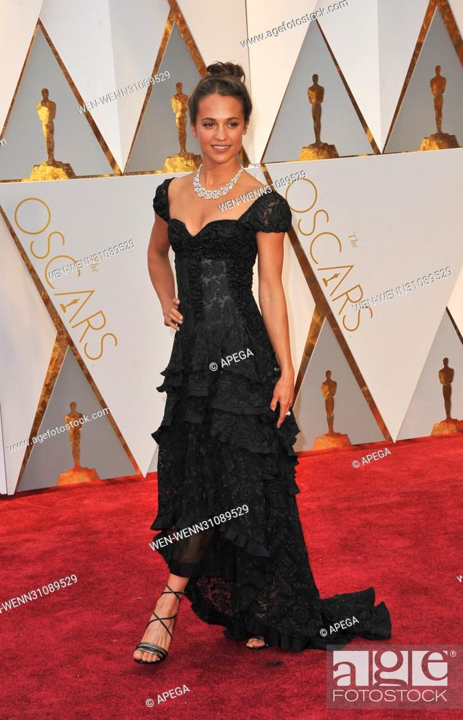 The 89th Annual Academy Awards Arrivals Featuring: Alicia