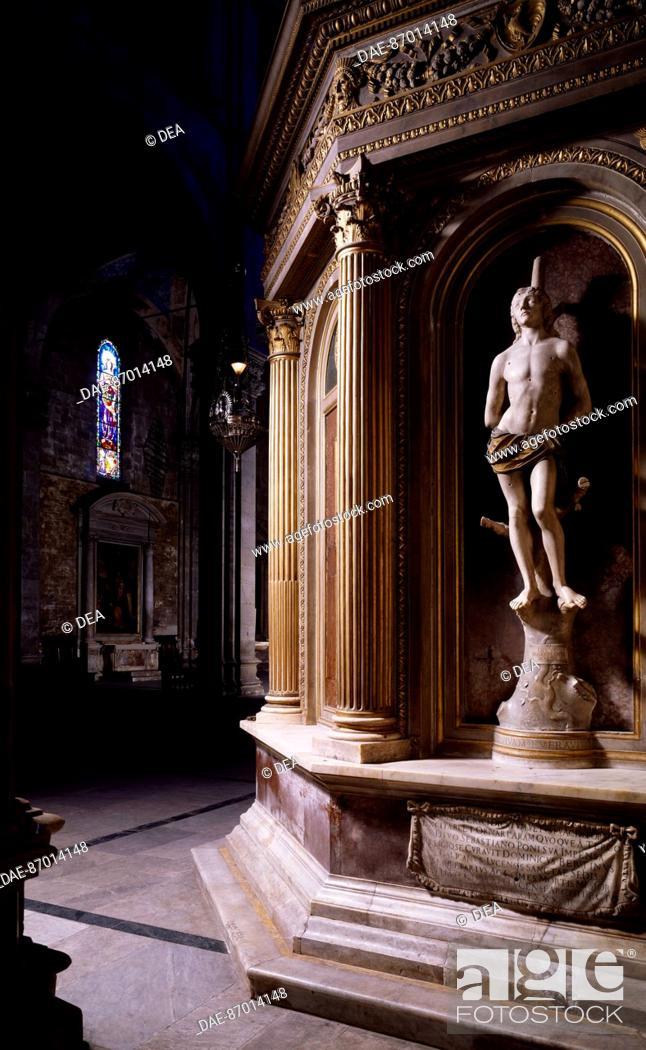 St Sebastian, by Matteo di Giovanni Civitali (1436-1501