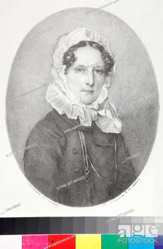 Stock Photo: Portrait of Countess Anna Sergeievna Golitsyna, née Vsevolzhskaya (1779-1837) by Pogonkin, Vladimir Ivanovich (1793-after.