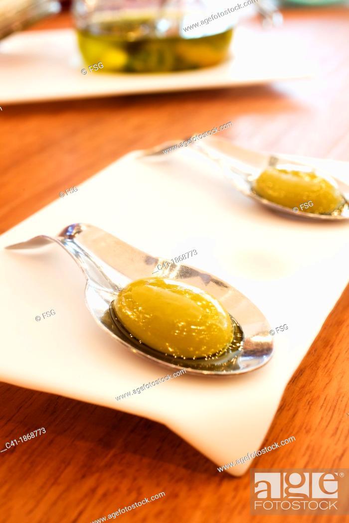 Stock Photo: Liquid olives.
