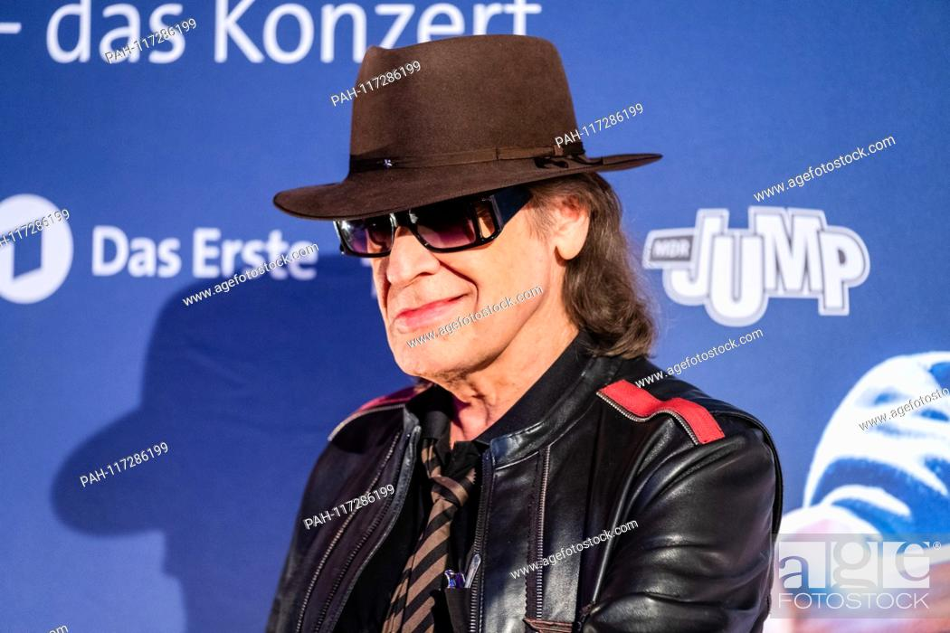 """Stock Photo: Rock musician Udo Lindenberg on the verge of a preview of two new MDR productions  € œUdo Lindenberg A """"""""Full speed ahead! Encounters on the Lindian Ocean € œ."""