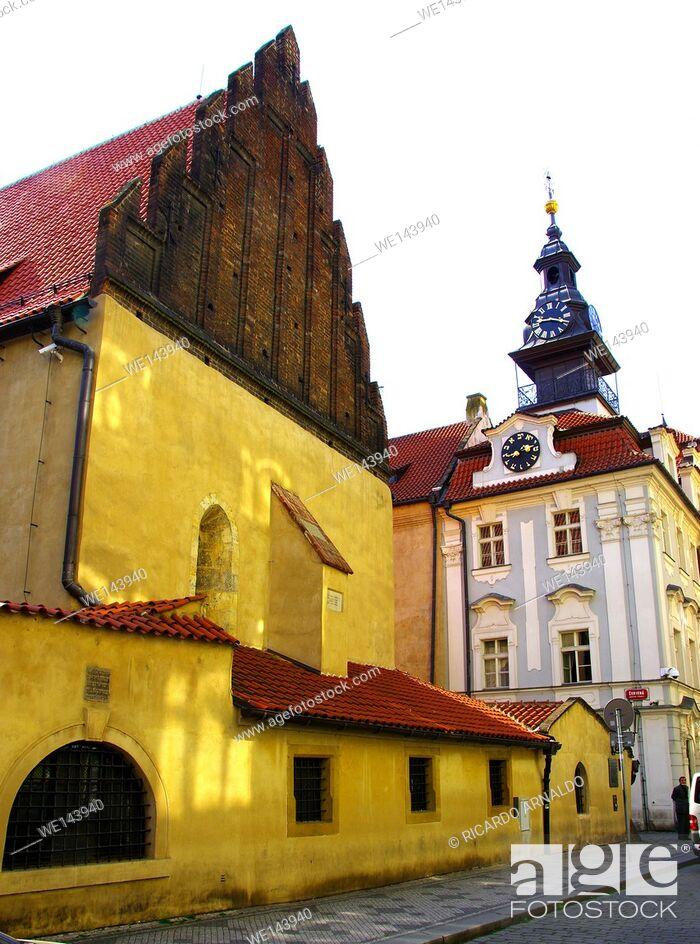 Imagen: Sinagogue in the Old Jewish Quarter, Prague.