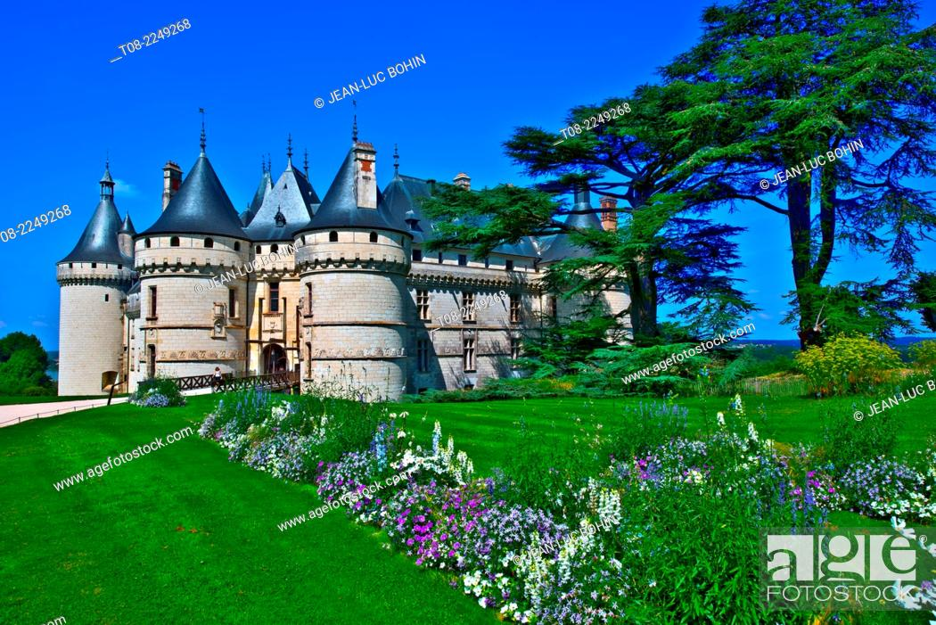 Imagen: france, loire castles : chaumont castle, outside.